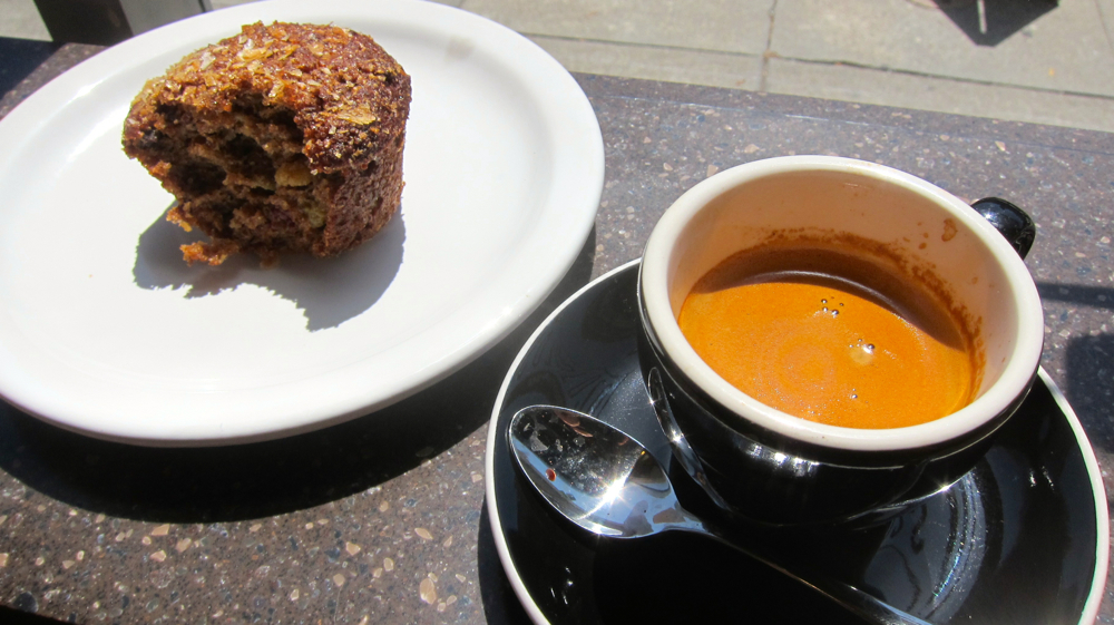 Bran Muffin and Espresso