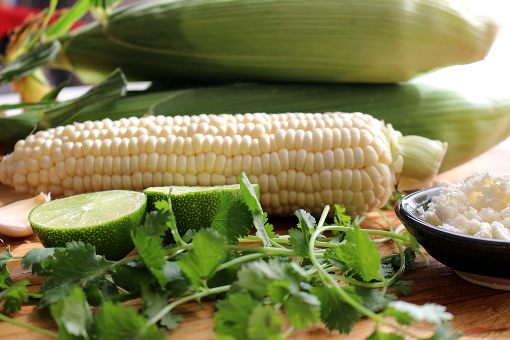 Ingredients for Grilled Corn-On-The-Cob with Lime-Cilantro Pesto. Photo: Wendy Goodfriend