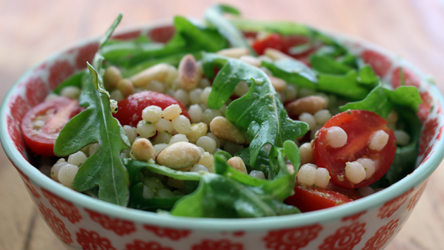 Crowd-Pleasing Summer Couscous Pesto Salad