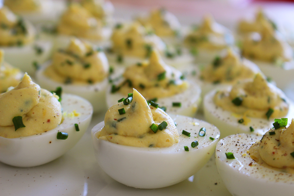 Deviled Eggs with Lemon and Herbs. Photo: Wendy Goodfriend