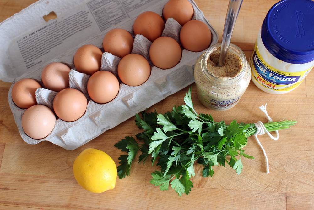 Deviled Egg ingredients. Photo: Wendy Goodfriend