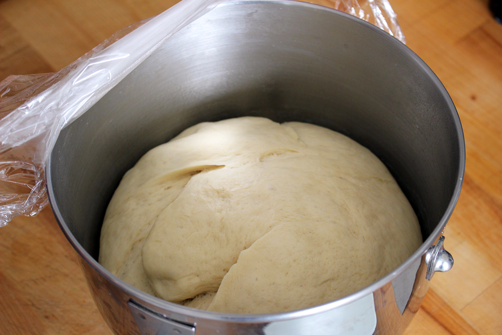 In 1 hr dough will double in size