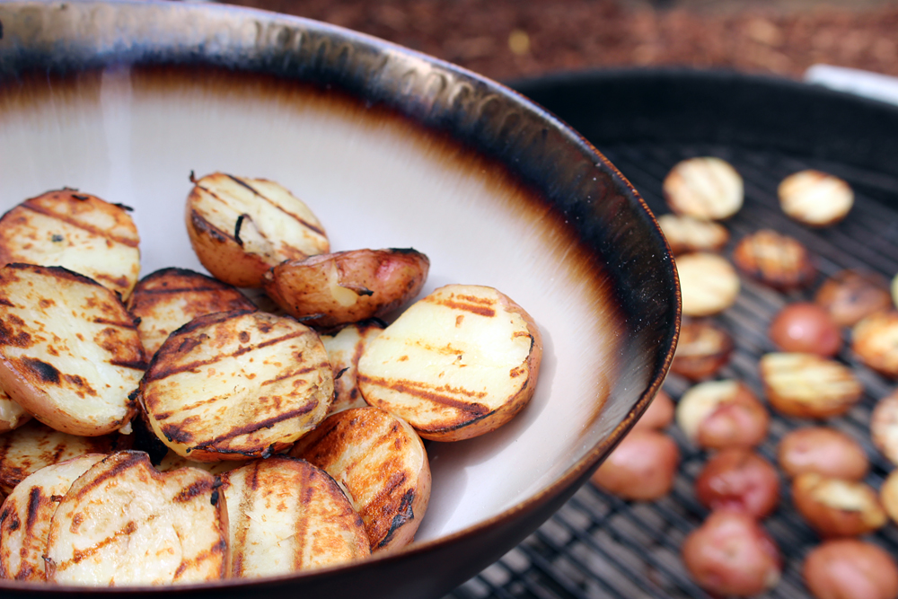Why not throw your potato salad on the grill? Photo: Wendy Goodfriend