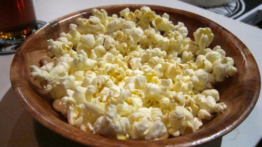 Complimentary Truffle Oil & Salt Popcorn