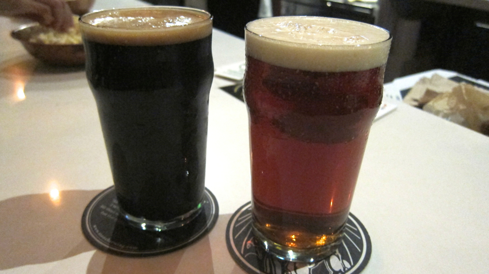Stone Imperial Russian Stout & Port Brewing Wipeout IPA