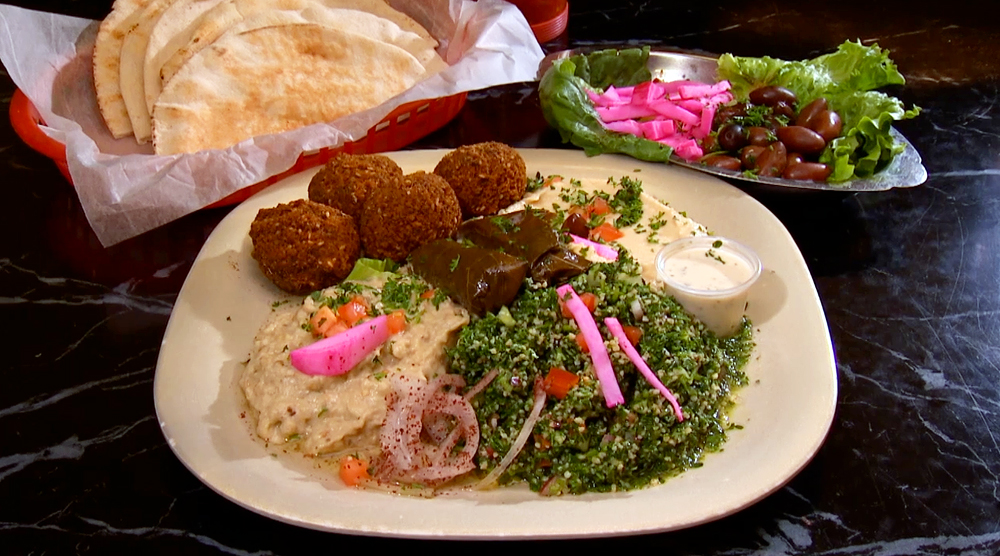 Vegetarian Plate at King of Falafel