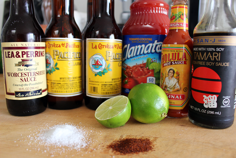 Ingredients to make Micheladas. Photo: Wendy Goodfriend