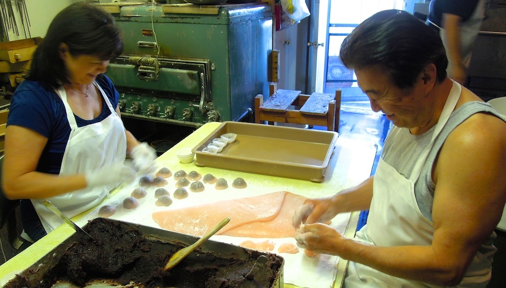 Judy and Tom Kumamaru have made mochi together for 27 years. Photo: Anna Mindess