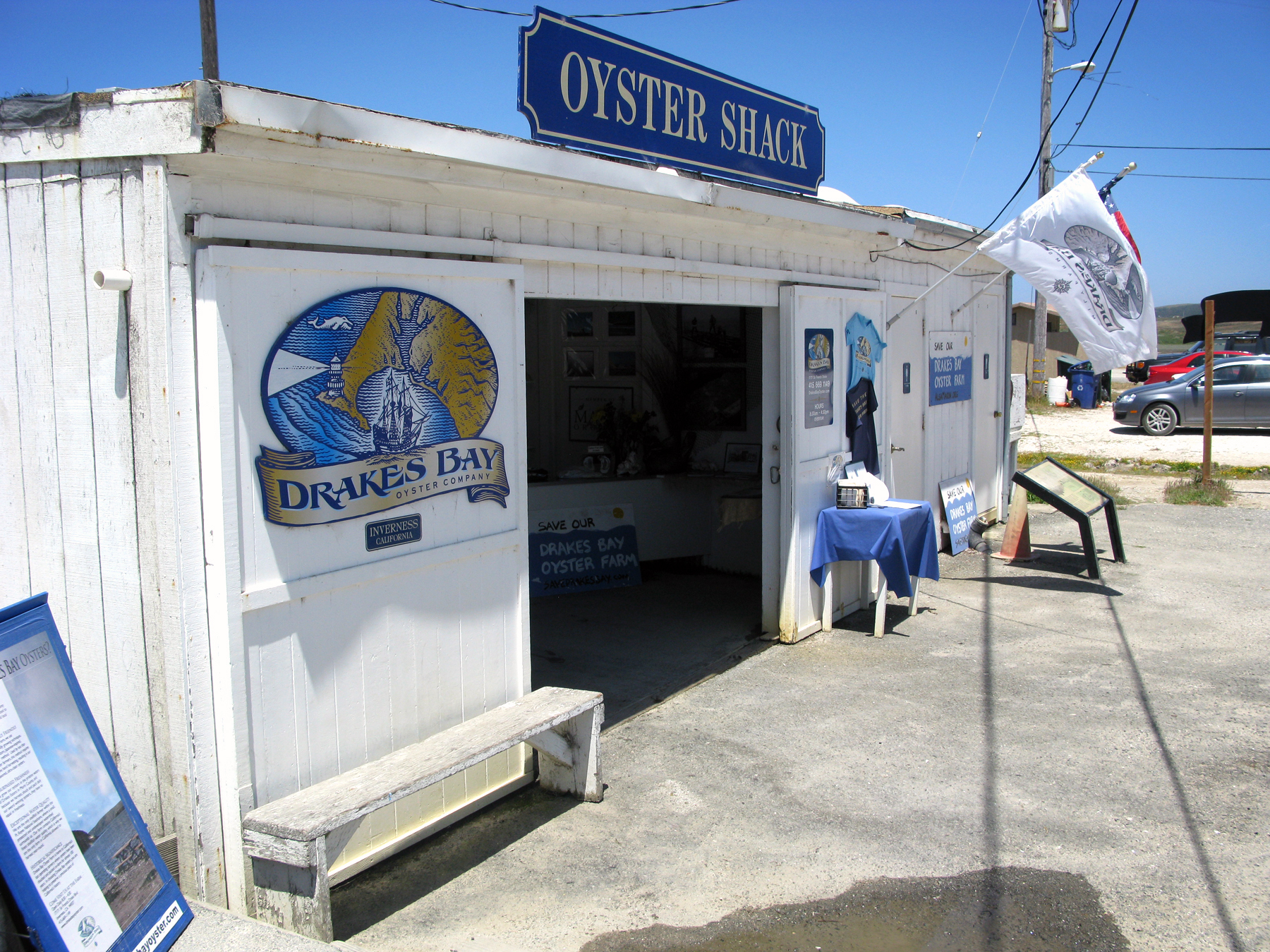 The Drakes Bay Oyster Farm caters to local residents and restaurants. But unless its lease is renewed, its days are numbered. Photo: Richard Gonzales/NPR