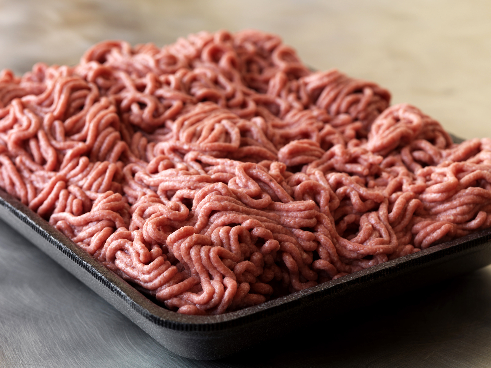 South Dakota-based meat processor Beef Products Inc. shows a sample of its lean, finely textured beef in September 2012. Photo: AP