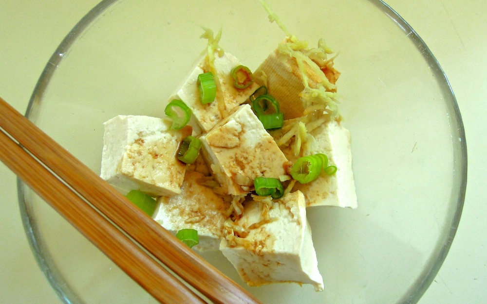 The freshest tofu deserves the simplest preparation. Photo: Anna Mindess