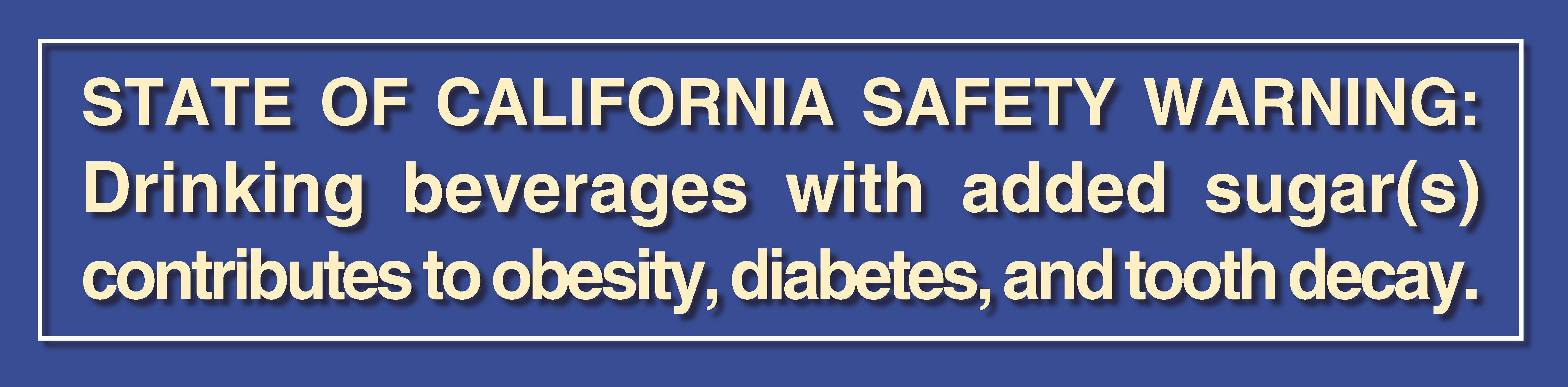 Warning label mock-up. Image: California Center for Public Health Advocacy
