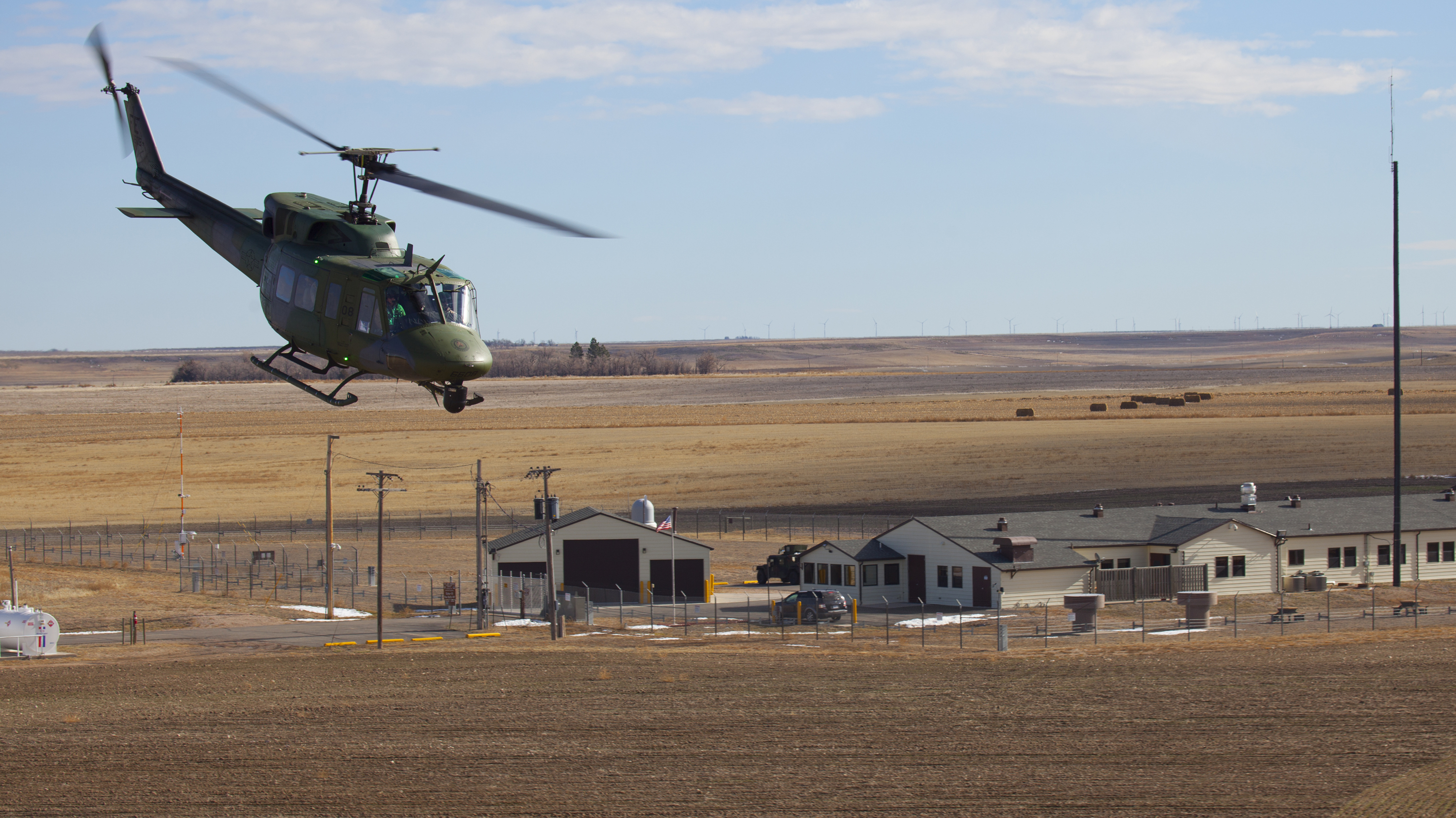 Getting a pizza delivered to a remote nuclear missle base is tricky. Unfortunately, the Air Force won't let you use its helicopters. Photo: Dan Gage/USAF