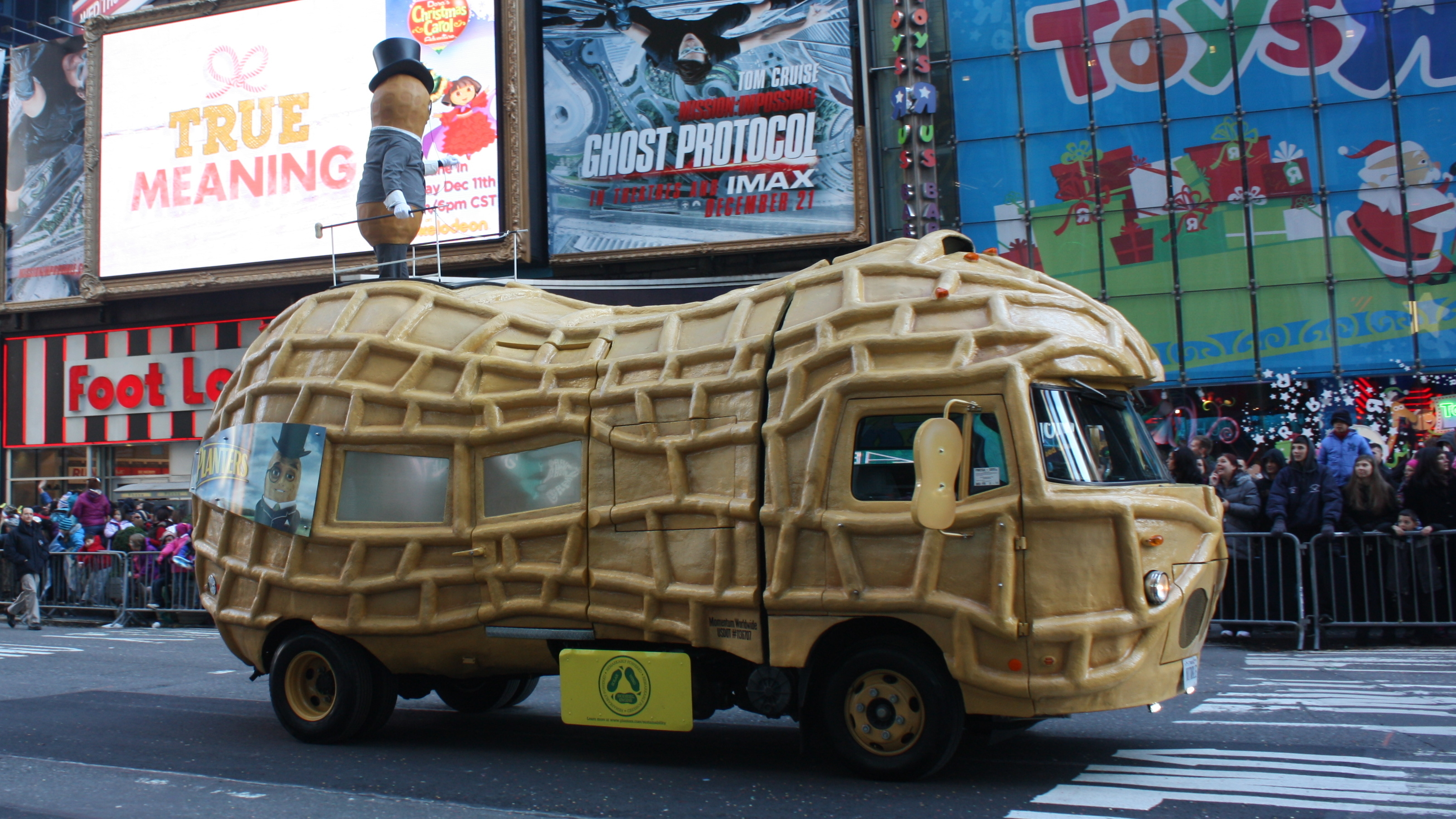 The Planters Nutmobile, seen here taking a starring turn at the Macy's Thanksgiving Day Parade, is hitting the road for a yearlong trip across the U.S. Photo: Peter Roan/Flickr