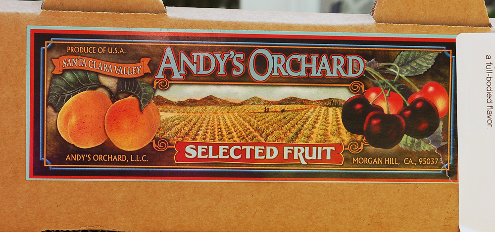 The approximately 100 varieties of commercially grown stone fruit from Andy's Orchard are available via fruit subscriptions that send whatever is perfectly ripe to consumers the day after being picked. Photo: Susan Hathaway