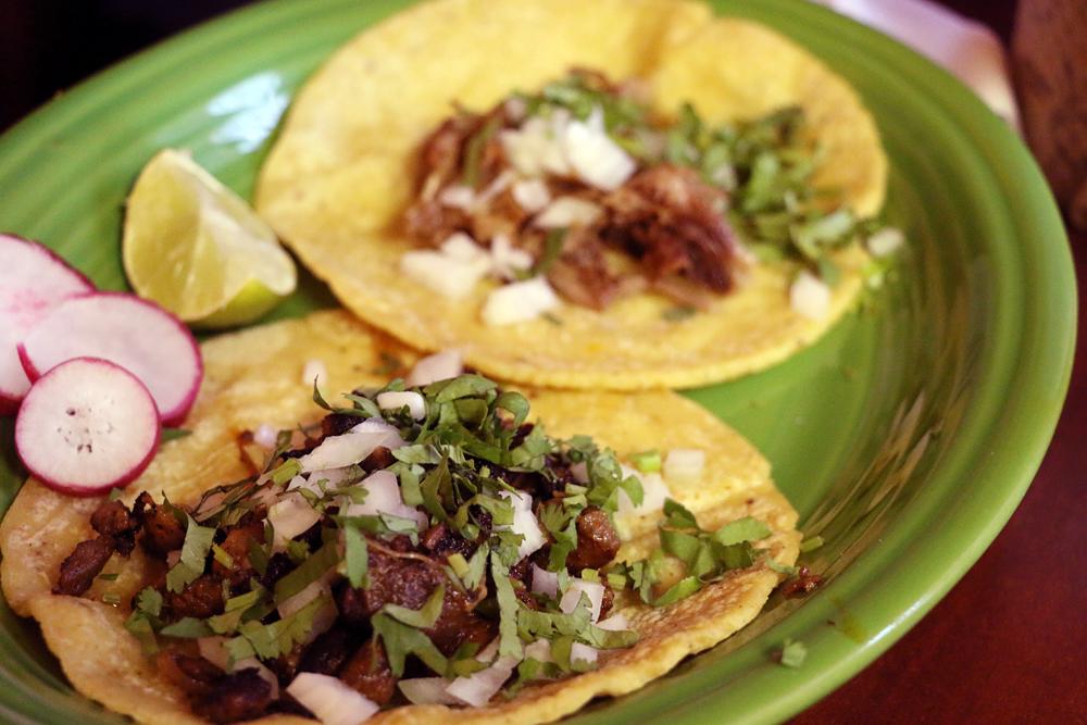 Carne asada taco at Taqueria Campos