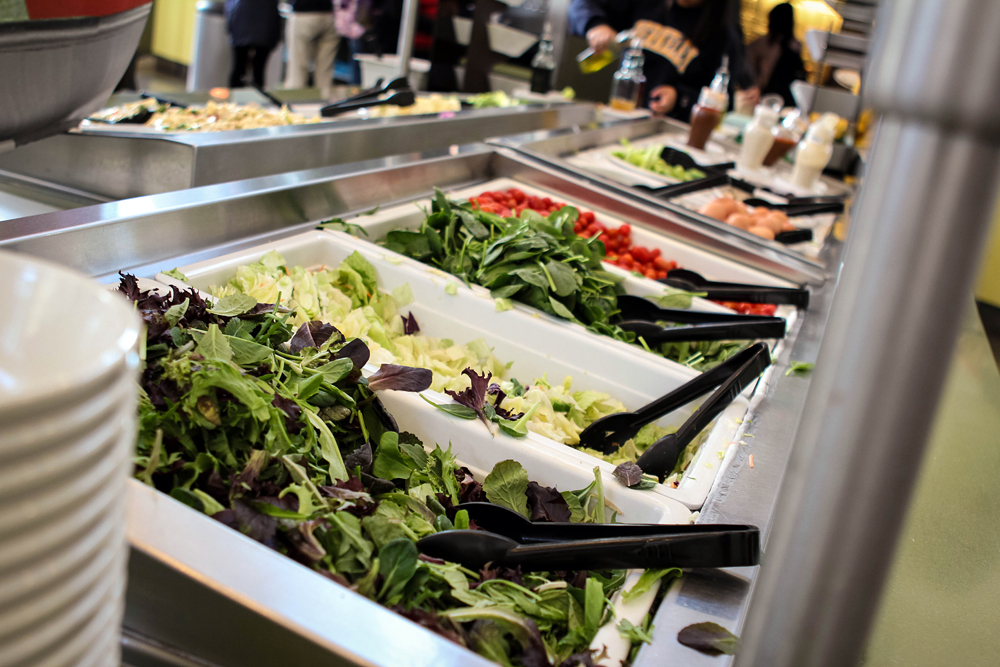 Salad bars feature organic produce at Cal Dining sites. Photo courtesy of Cal Dining.