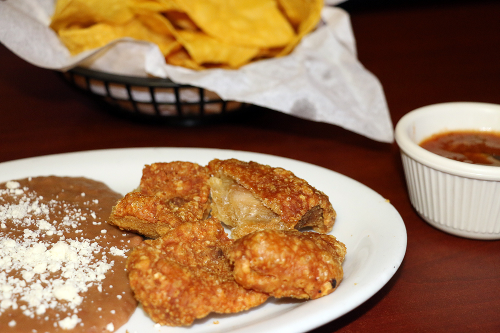Chicharrones at Taqueria Campos