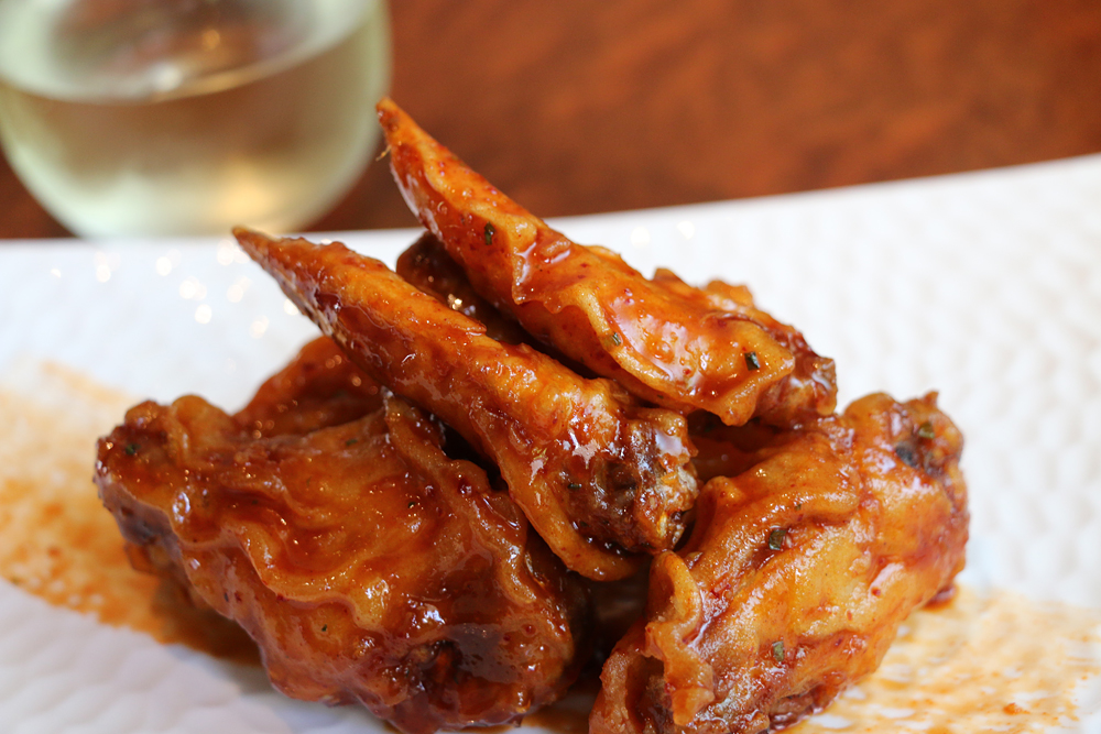 Chile-marinated chicken wings