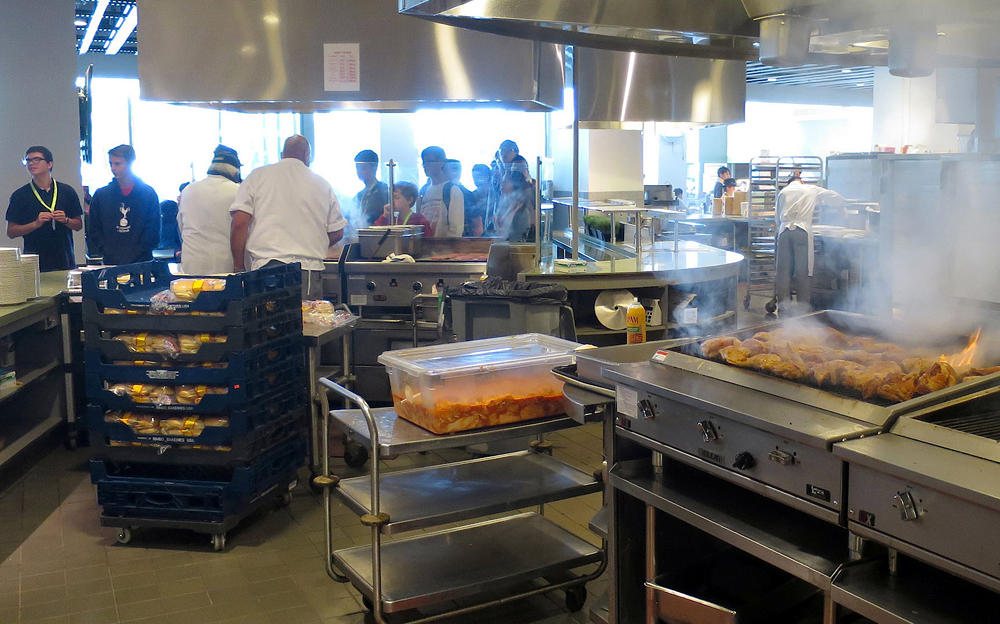 The Crossroads' open kitchen. Photo: Kristan Lawson