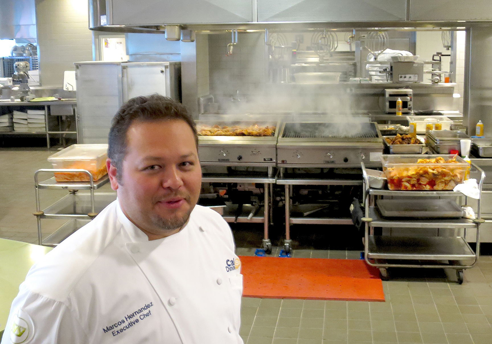 Executive chef Marcos Hernandez in the Crossroads kitchen. Photo: Kristan Lawson