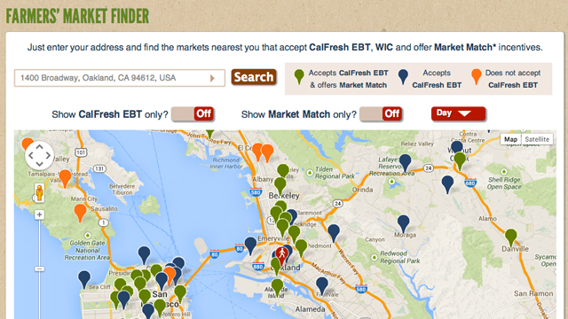 Berkeley's Ecology Center Creates Farmers' Market-Finding Tool