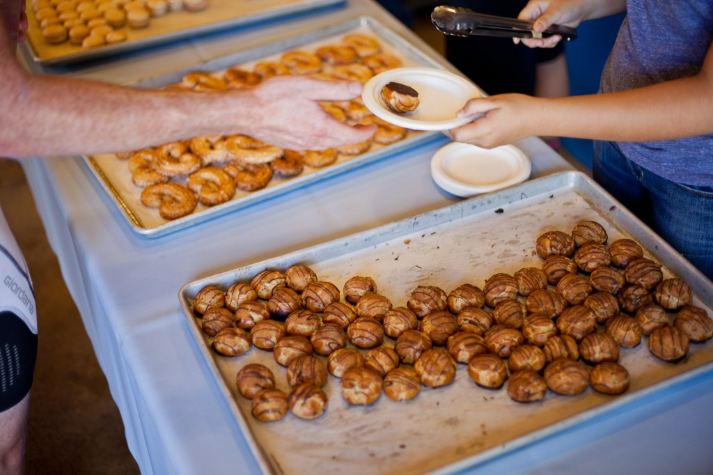 Mini cream puffs and palmiers at the 2014 Chris King Portland Gourmet Century. Photo: Dylan Vanweelden