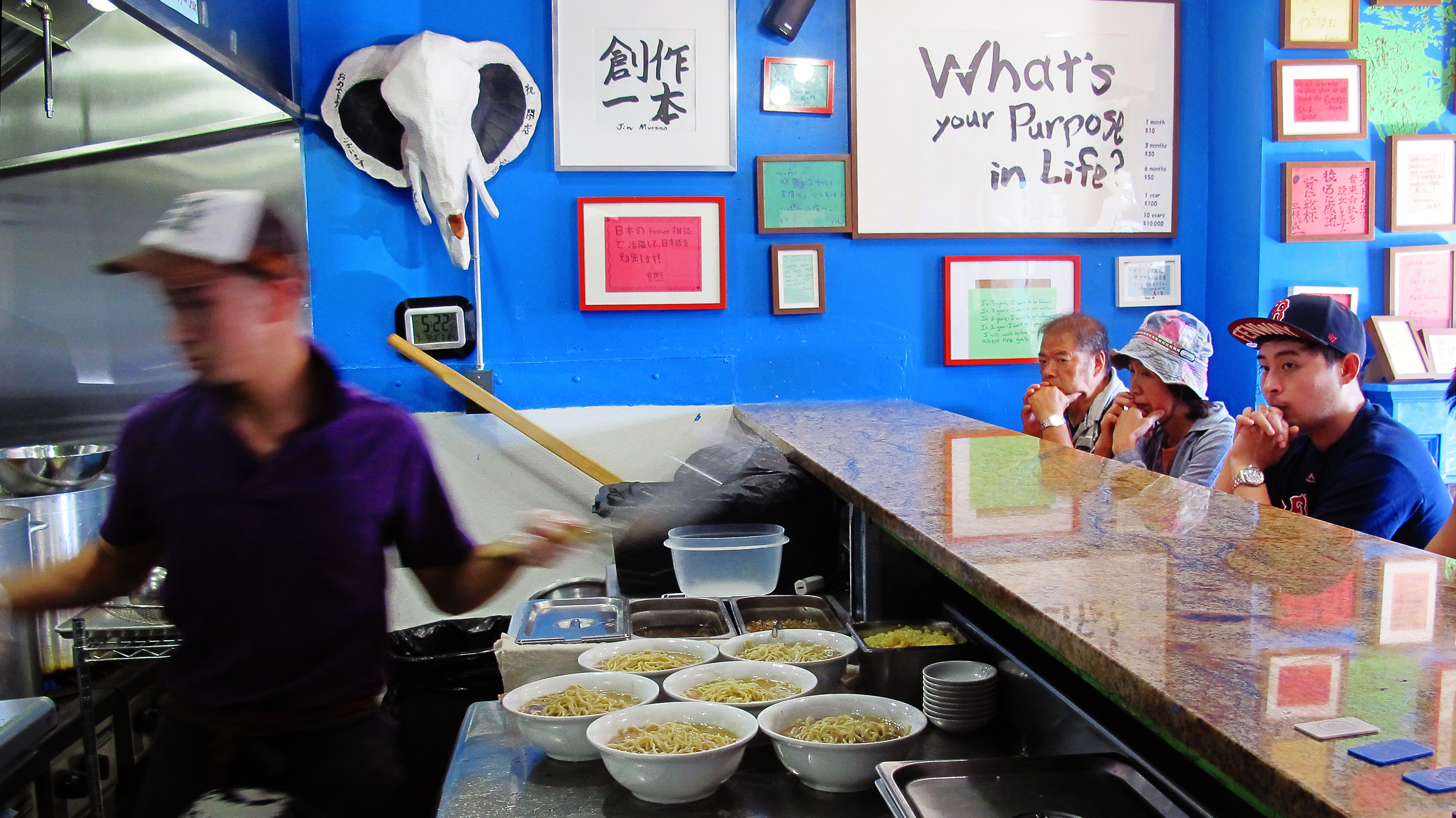 At Yume Wo Katare, eating ramen is treated as a path to personal fulfillment. Photo: Andrea Shea for WBUR