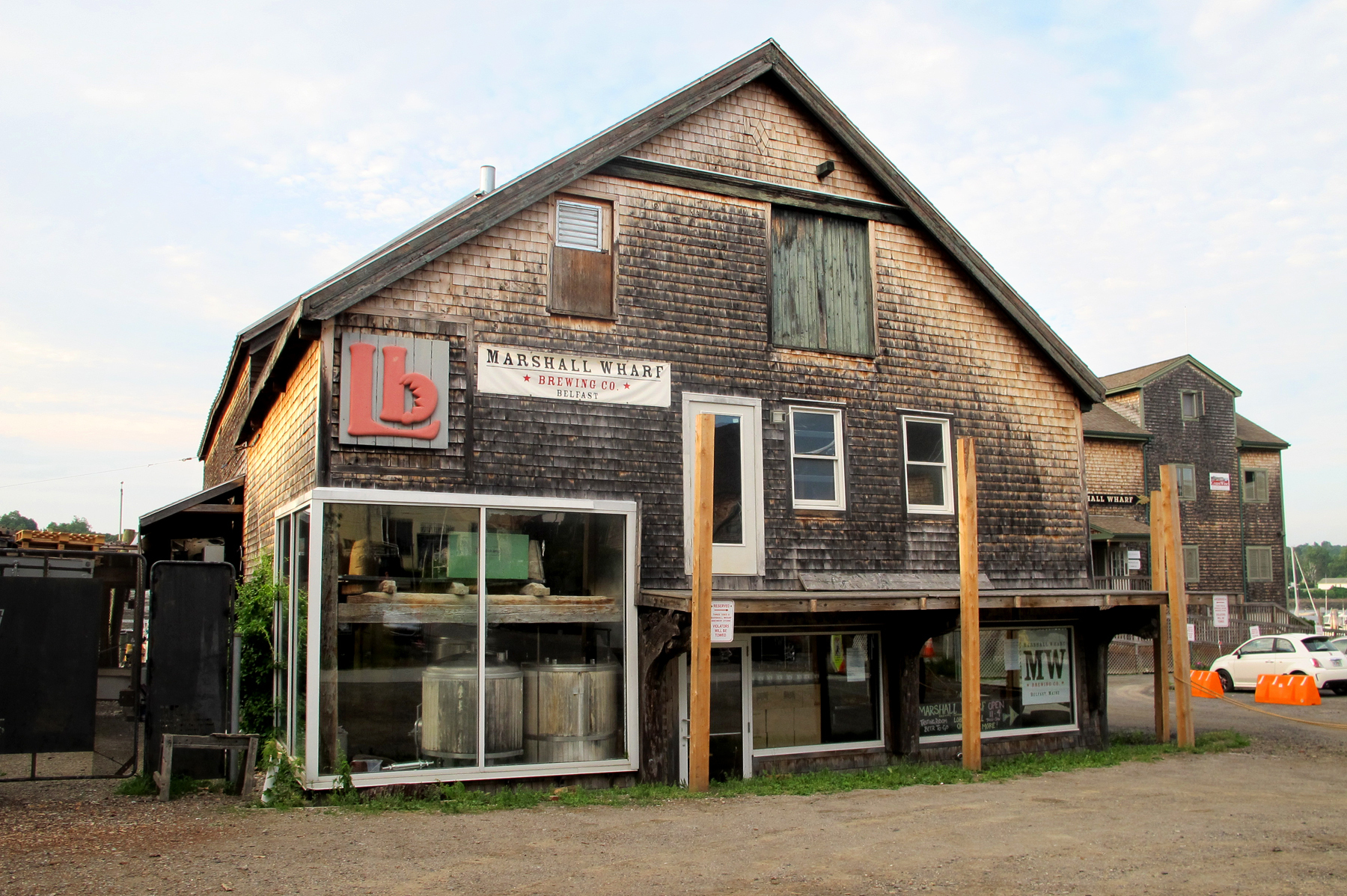 The Marshall Wharf Brewing Co. in Belfast, Maine. Photo: Jay Field/MPBN