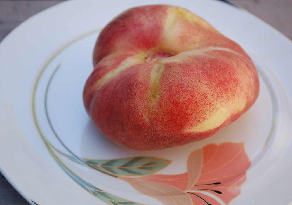 This earlier peach variety is juicy and sweet.