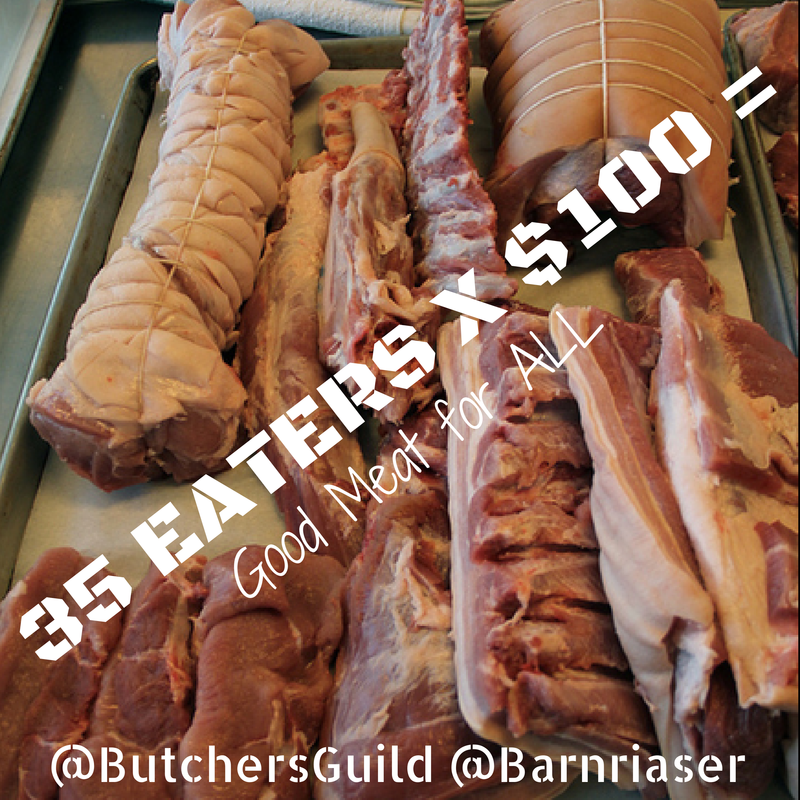 The Butcher's Guild celebrates whole animal butchery. Photo courtesy of Barnraiser.