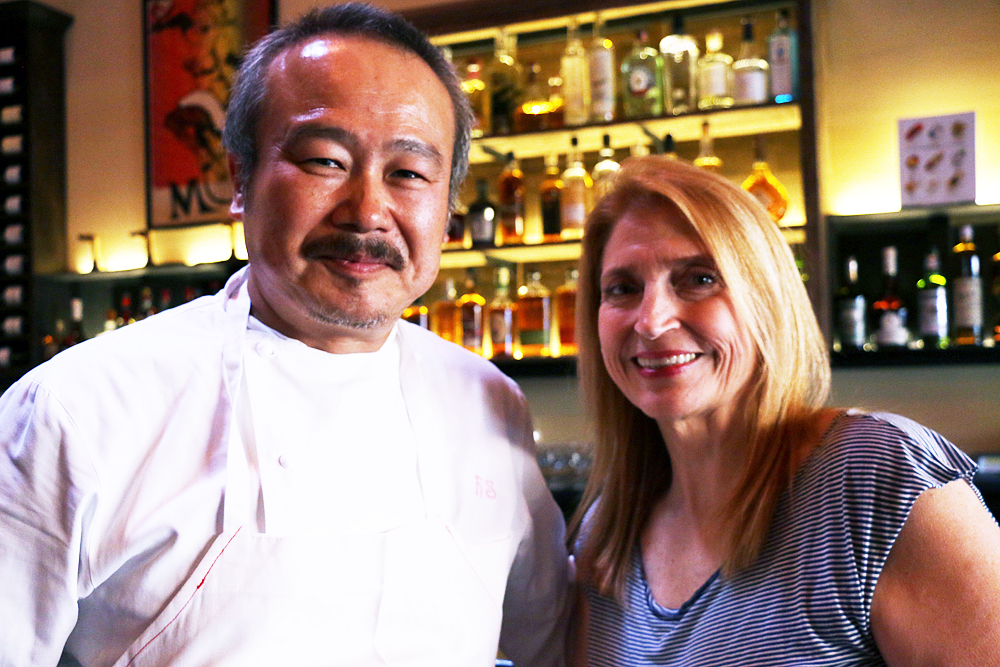 Owners Hiro Sone and Lissa Doumani.