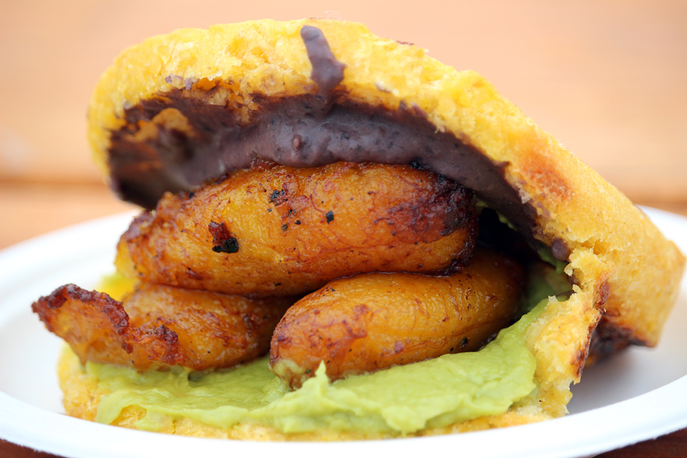 Venezuelan vegetable arepas from Pica Pica. Photo: Wendy Goodfriend
