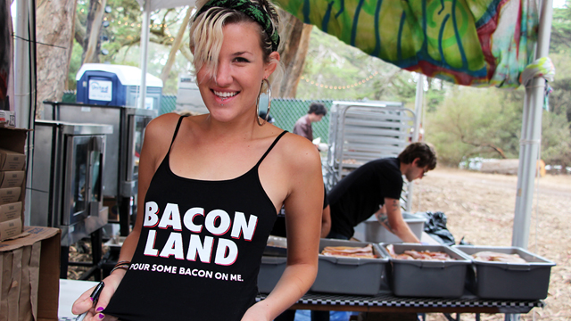 Bacon Land vendor - Pour Some Bacon On Me. Photo: Wendy Goodfriend