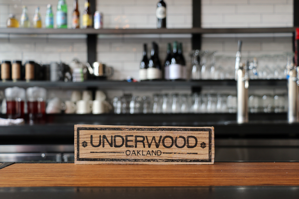 The beautiful zebrawood bar at Café Underwood.The beautiful zebrawood bar at Café Underwood. Photo: Kim Westerman