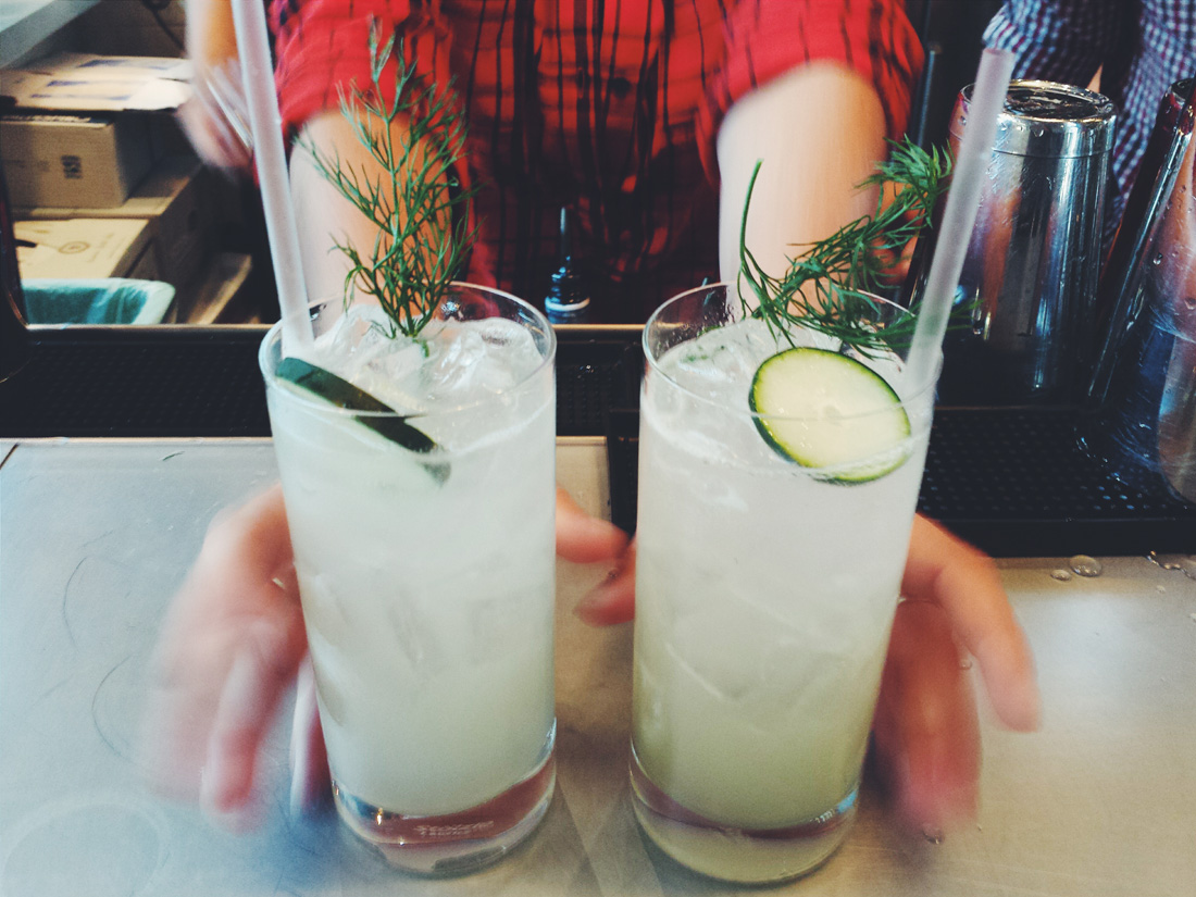 The Dill-icious cocktail is just that.