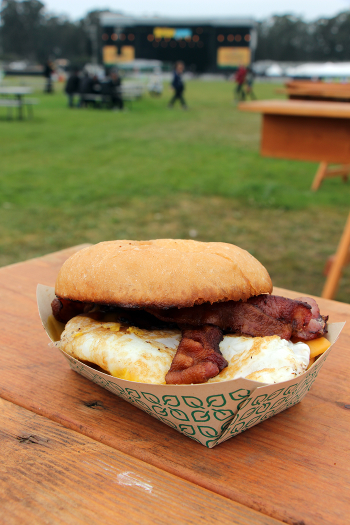 Fried egg with bacon and cheese sandwich from Il Canne Rosso. Photo: Wendy Goodfriend