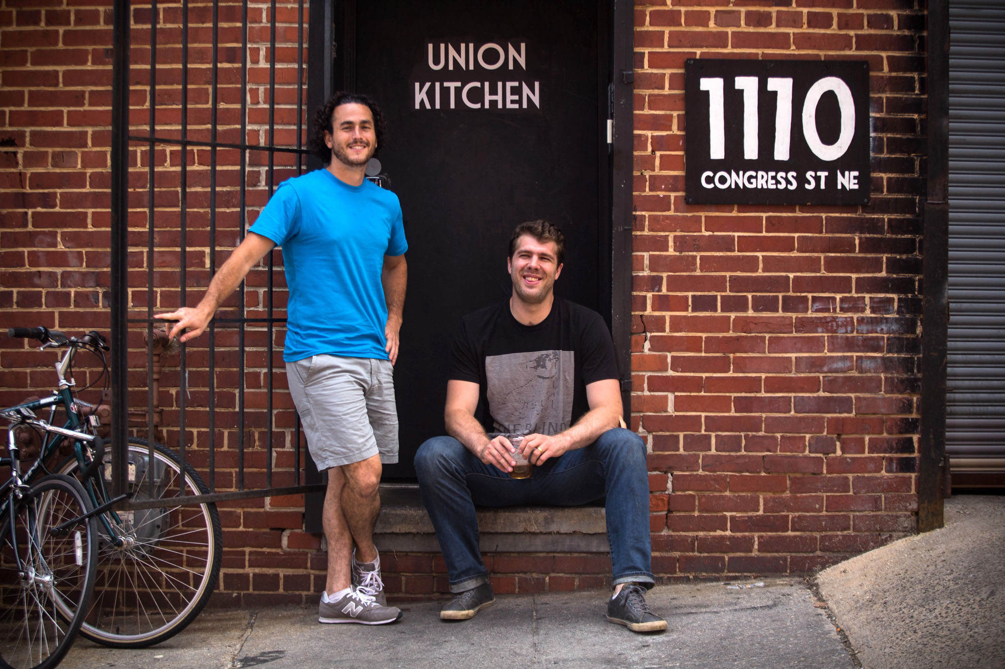 Jonas Singer (left) and Cullen Gilchrist co-founded Union Kitchen, a food incubator in Washington, D.C. Photo: Meredith Rizzo/NPR