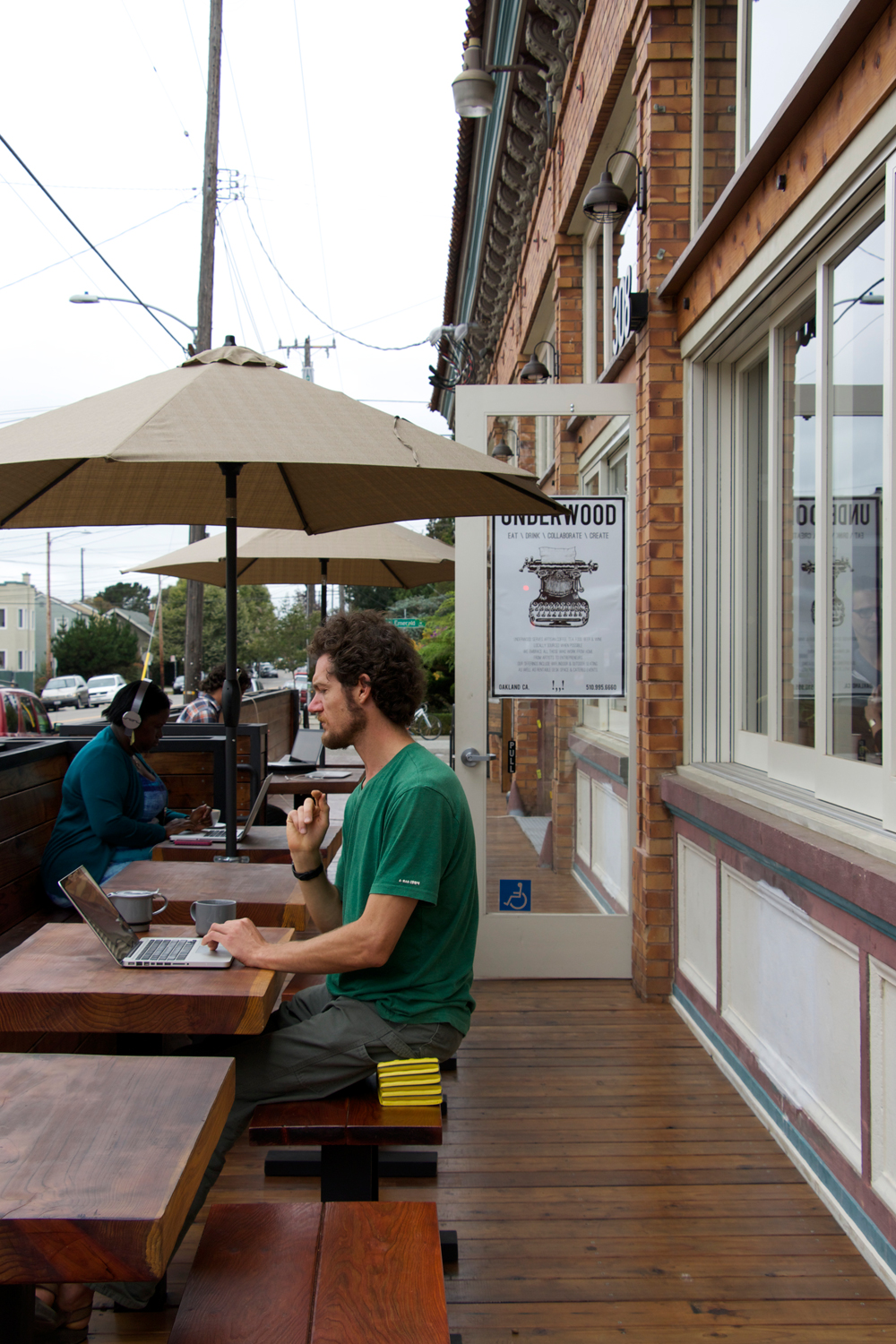 Café Underwood outside workspace. Photo: Kim Westerman