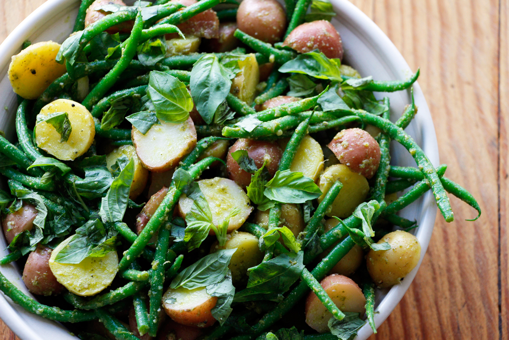 Baby New Potato and Green Bean Salad with Lemon-Basil Pesto Vinaigrette. Photo: Wendy Goodfriend