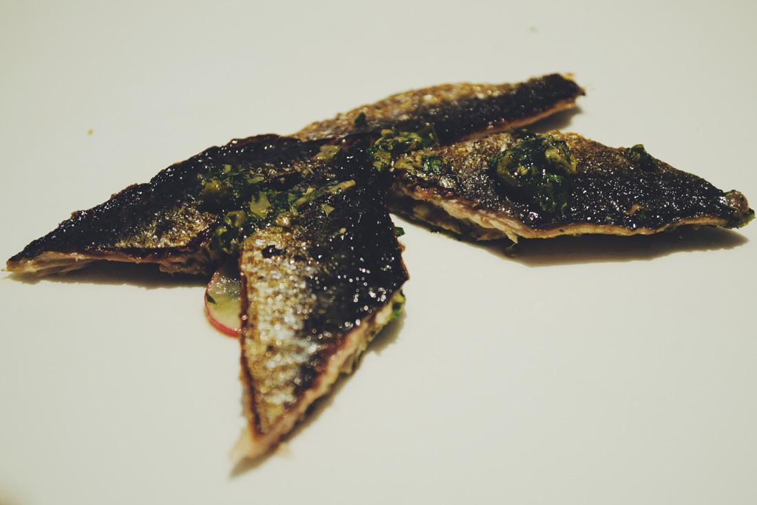 Baked sardines.