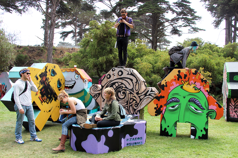 Climbable sculptures by Eos Montana - perfect for texting. Photo: Wendy Goodfriend