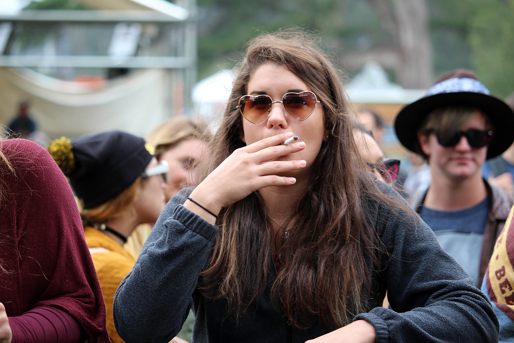Smoking a cigarette. Photo: Wendy Goodfriend