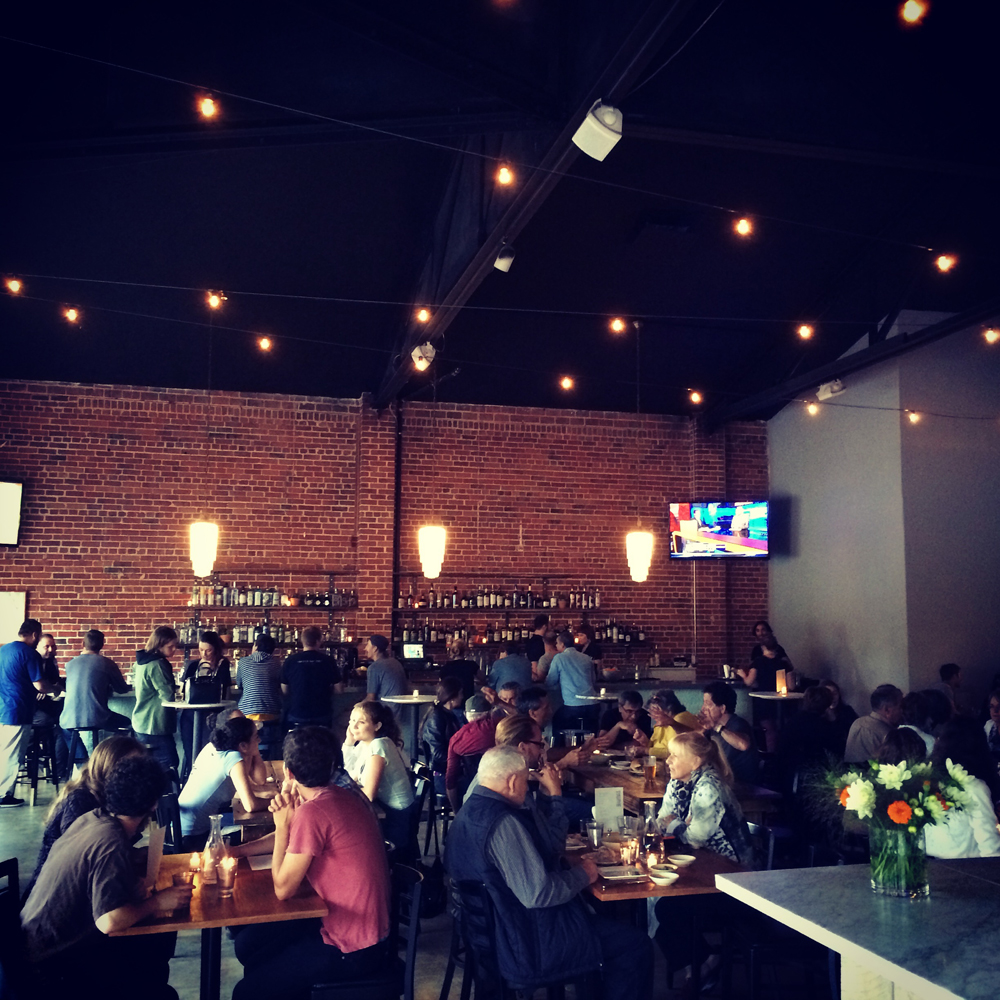 Townie's 75-seat open dining room, abuzz with locals. Photo: Courtesy of Townie