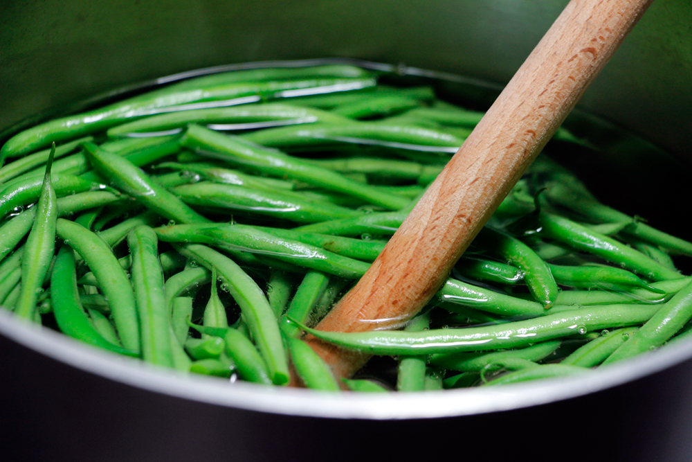 Prep the green beans. Photo: Wendy Goodfriend