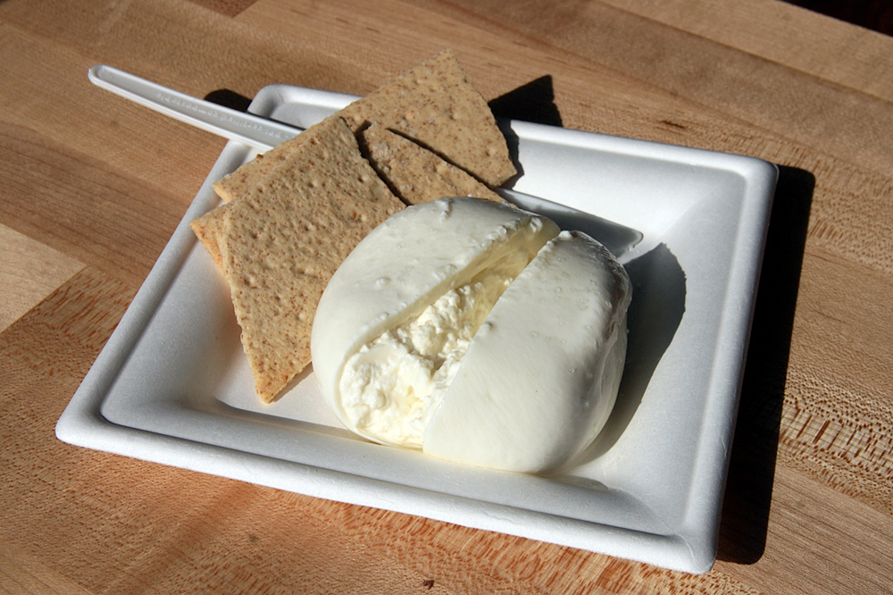 Truffle Burrata from Wisconsin. Photo: Lisa Landers