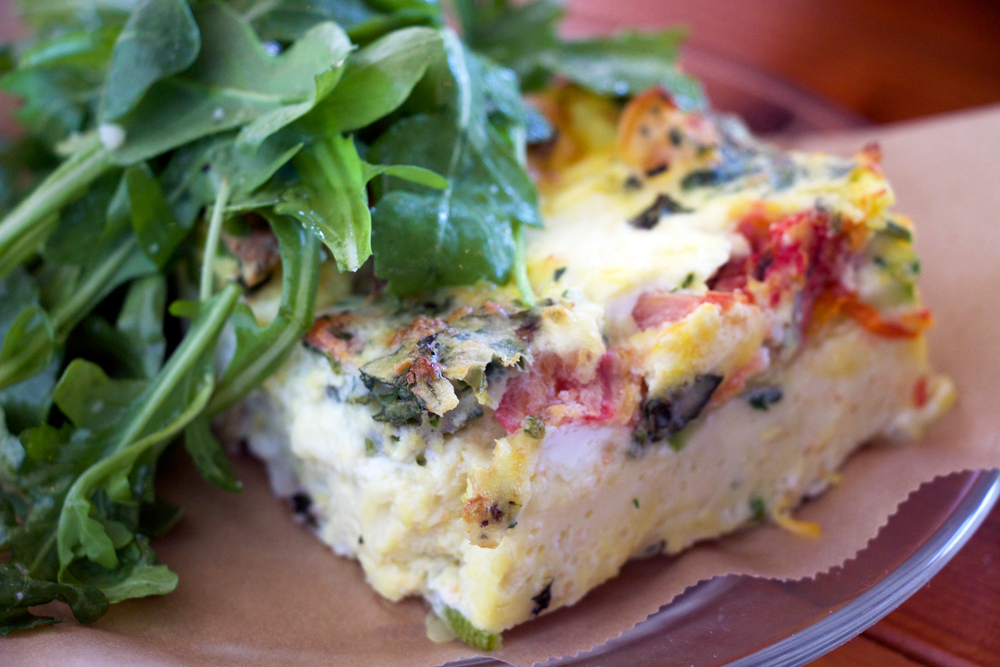 Vegetarian frittata. Photo: Kim Westerman
