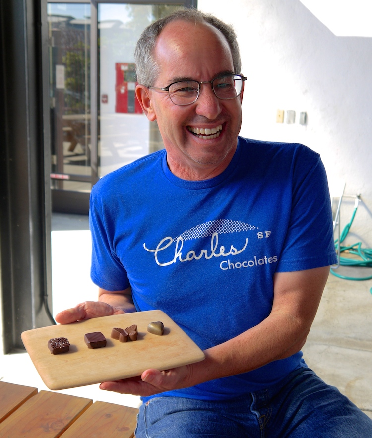 Chuck Siegel of Charles Chocolates. photo: Lila Volkas