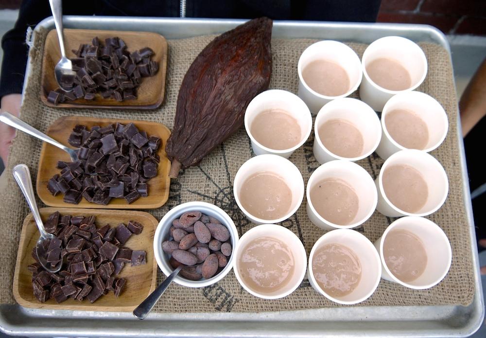 Tray of chocolate tastes at Dandelion. photo: LilaVolkas