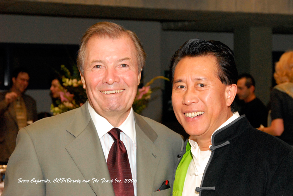 Jacques Pépin and Martin Yan in 2006. Photo: Steve Caparulo, CCO/Beauty and The Feast Inc.